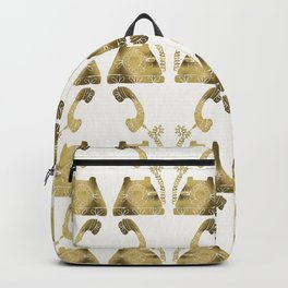 Vintage Rotary Phone – Gold Palette Backpack