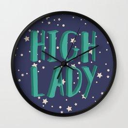 High Lady Wall Clock