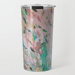 Abstract - emerald green & pink Travel Mug