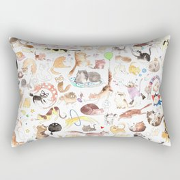 A cat mess Rectangular Pillow