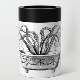 Tentacles in the Tub | Octopus | Black and White Can Cooler