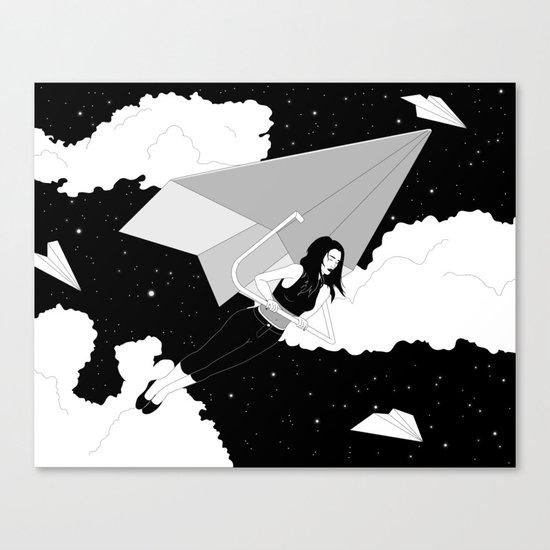 The Paper Plane Journey Canvas Print