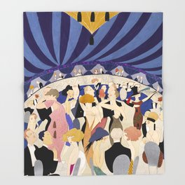 Dancing couples in jazz age nightclub Throw Blanket