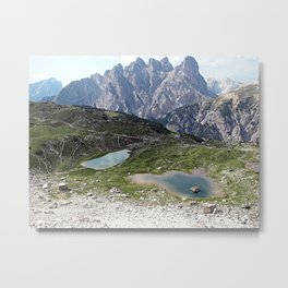 Alps Mountain Lakes Landscape Metal Print
