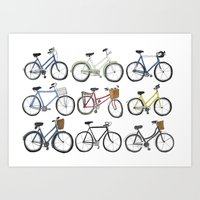 bicycles Art Prints featuring Bicycles by Bianca_CS