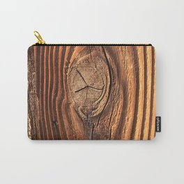 Honey Colored & Mahogany-Red Wood With Elegant Knot Carry-All Pouch