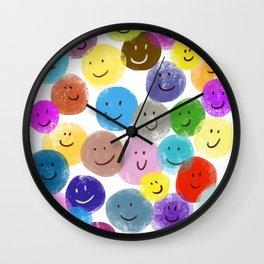 Smiley Faces #2 Wall Clock
