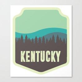 Kentucky Badge Canvas Print