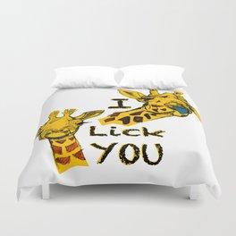 I like you girafe blue tong Duvet Cover
