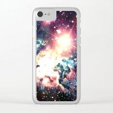 Fox Fur Nebula : Deep Pastels Galaxy Clear iPhone Case