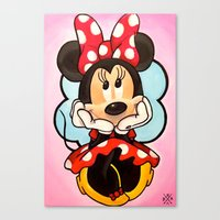 minnie Canvas Prints featuring Minnie  by Diego Navarro