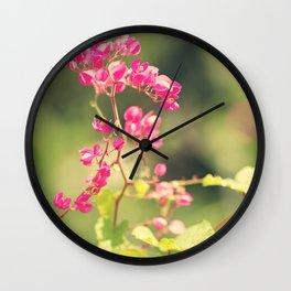 Flowered Rhapsody in Pink Wall Clock