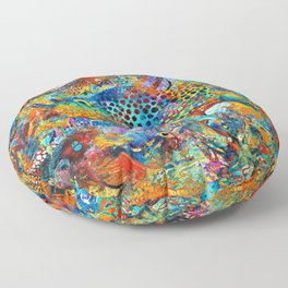 Tropical Beach Art - Under The Sea - Sharon Cummings Floor Pillow