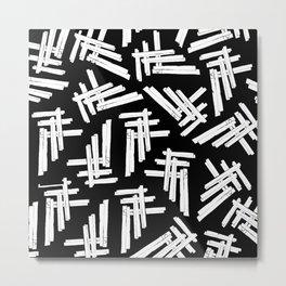 A Field of Crossed Members Metal Print