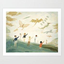 Kites Kunstdrucke