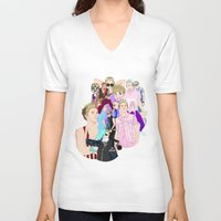 niall V-neck T-shirts featuring Niall Collage by Pinkeyyou