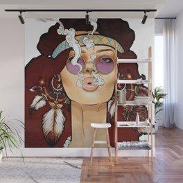 BOHO--GIRL Wall Mural