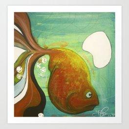 Heavy fish Art Print