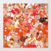 girls Canvas Prints featuring Girls by Mouni Feddag