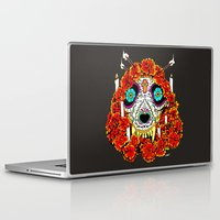 calavera Laptop & iPad Skins featuring lupe calavera by Natte