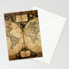 World Map 1752 Stationery Cards