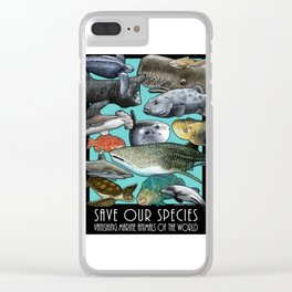 Save Our Species: Vanishing Ocean Animals of the World Clear iPhone Case