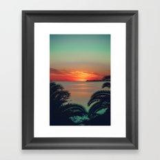 Colonia Sunset Framed Art Print