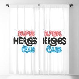 Super Heroes Club Blackout Curtain