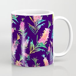 Feminine Australian Native Floral Pattern Coffee Mug