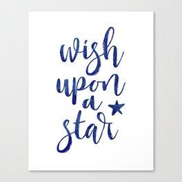 Wish upon a star - midnight blue Canvas Print