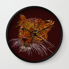 Leopard abstracto Wall Clock