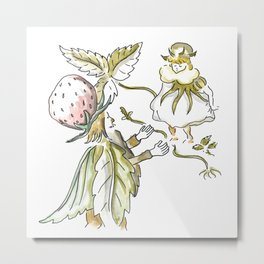Little Girl and the Old King - Inspiration of Elsa Beskow Metal Print