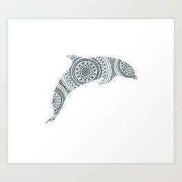 Dolphin Circle Art Art Print