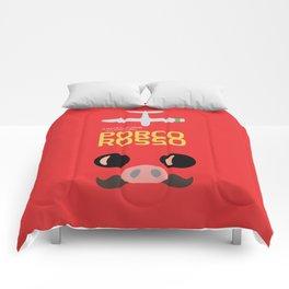 Porco Rosso - Hayao Miyazaki minimalist movie poster - Studio Ghibli, japanese animated film Comforters