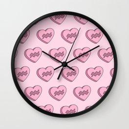 Aquarius Candy Hearts Wall Clock