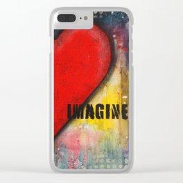 Heart Art Clear iPhone Case