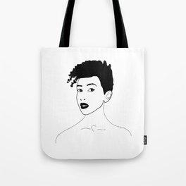 Simply black lady Tote Bag