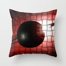 Red star and black planet. Throw Pillow