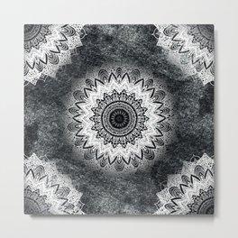 MONOCHROME BOHOCHIC MANDALA Metal Print