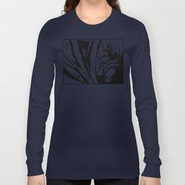 Misshaku Kongō: Buddhist Temple Guardian (Black & White) Long Sleeve T-shirt