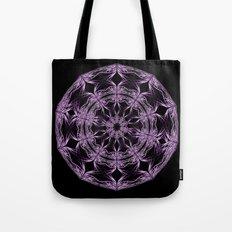 Mandala purple and black Tote Bag