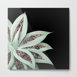 Agave Finesse Glitter Glam #2 #tropical #decor #art #society6 Metal Print