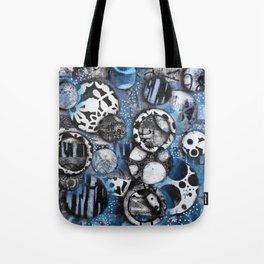 The Mick J - Black and White Circles Tote Bag