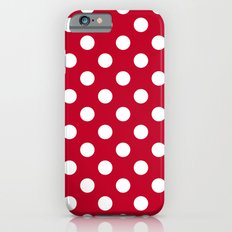 Red and Polka White Dots Slim Case iPhone 6s