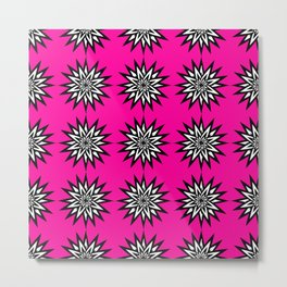 floral neon pink pattern Metal Print