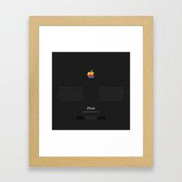iPhone Vintage Macintosh Black Framed Art Print