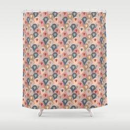 Ovopornis - beige Shower Curtain