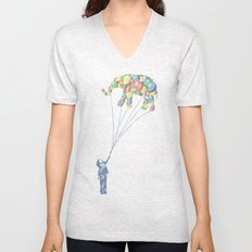 Elephants Can Fly Unisex V-Neck