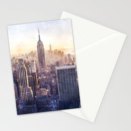 New York City Watercolor Skyline Stationery Cards