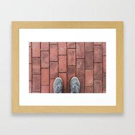 Third Person Brick Perspective Framed Art Print